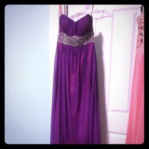 FLIRT - Purple / Pink Chiffon Gown